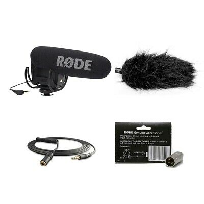 Rode VideoMic Pro R Mic w/Deadcat VMPR, VC1 Extension cable & VXLR Connector NEW