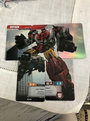 Transformers TCG Wave 2 ROTC Aerialbot Superion 5 Card Set + 3 Aerialbot Enigmas