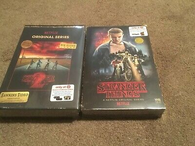 Stranger Things Exclusive Season 1 & 2 Blu-Ray/DVD VHS Packaging Brand New!l