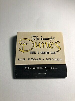 """Vintage Matchbook  - """"THE BEAUTIFUL DUNES HOTEL & COUNTRY CLUB"""" Nevada MB1."""