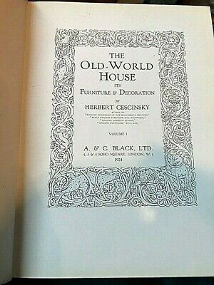 1924 2vols The Old Wold House Furniture and Decoration, Herbert Cescinsky