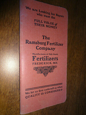The Ramsburg Fertilizer Company Booklet - Frederick, MD