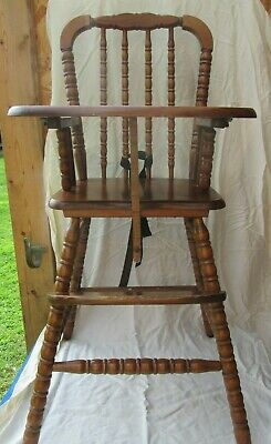 Remarkable Vtg Wood Wooden Highchair High Chair Jenny Lind 1St Birthday Unemploymentrelief Wooden Chair Designs For Living Room Unemploymentrelieforg