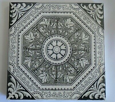 A Victorian Black And White Reclaimed Tile
