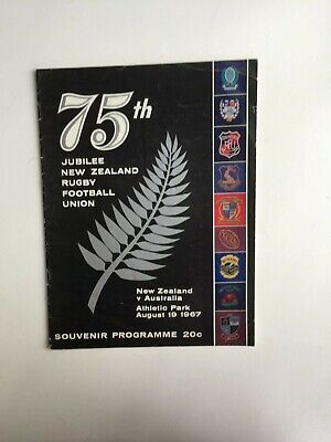 ALL BLACKS v AUSTRALIA 1967 PROGRAMME: 75th JUBILEE OF NEW ZEALAND RFU
