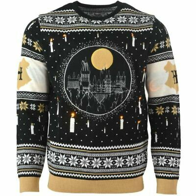 Numskull Christmas Xmas Jumper Harry Potter Hogwarts LED UK: XXL / US: XL New