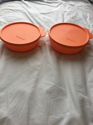 Tupperware Microwave Reheatable Cereal Bowls set of 2 with seals