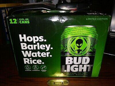 Bud Light Alien Area 51 Special Edition Sealed 12 Pack of Cans