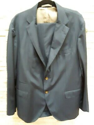 Mens slim fit suit CUCITA A MANO Size 58 Regular. Pans size36/34 Made in Italy.