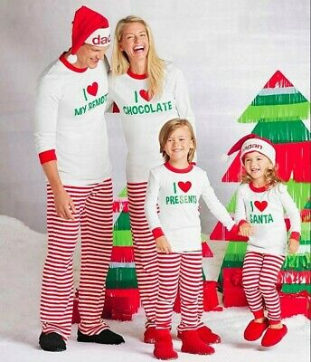 Family Matching Boys Girls Christmas Pyjamas Xmas Nightwear Pajamas PJs Sets UK