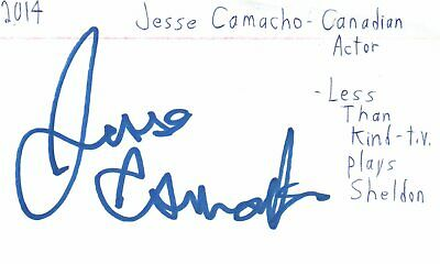 Jesse Camacho Canadian Actor Less Than Kind TV Autographed Signed Index Card