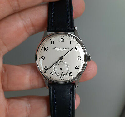Vintage IWC Schaffhausen International Watch Co. C83 Steel Watch 1940's 35mm