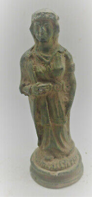 European Finds Ancient Roman Bronze Statue Of Virgin Mary Circa 200-300Ad