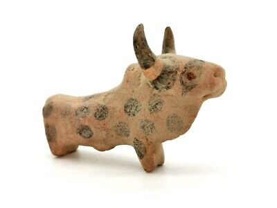 Large Indus Valley Ca.2200 Bc Terracotta Zebu Bull Figurine -  R90