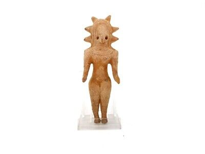 Large Indus Valley Ca.2200 Bc Terracotta Fertility Idol-  R106