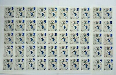 50 2nd CLASS STAMPS 2ND - UNFRANKED OFF PAPER., WITH GUM FV £29##