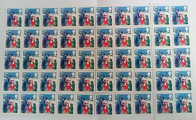 50 2nd CLASS STAMPS 2ND - UNFRANKED OFF PAPER., WITH GUM FV £29