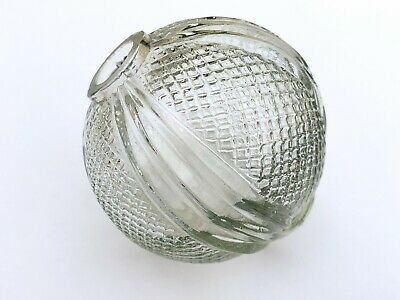 Vintage Cut Glass Globe Ball Shade Lamp Oil Lamp - Vintage Glass Ball for Lamps
