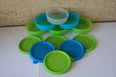 Lot Of 6 Tupperware ~6 Oz Little Wonders Pastel Bowls #1286 ~Seals #215 ~Euc