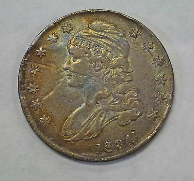 1834/34 Capped Bust Silver Half Dollar O-118  R4 Overdate VERY Scarce