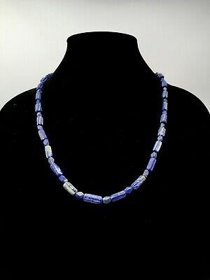 Near Eastern Ca.3000 Ab Lapis Lazuli Beaded Necklace- Wearable - R134