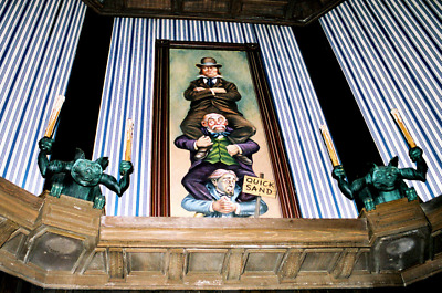 """Giclee Haunted Mansion Holiday Stretching Room Gallery SET 16x48"""" 1960s Vintage"""