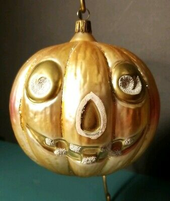 VINTAGE MERCK OLD WORLD or NEIMAN HALLOWEEN CHRISTMAS PUMPKIN JACK O'LANTERN JOL