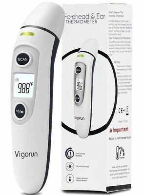 Vigorun Medical Forehead and Ear Thermometer, Digital Infrared Temporal Thermome