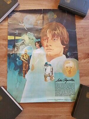 Vintage 1977 Star Wars  Luke Skywalker Poster Burger King/Coca Cola Ad Promo