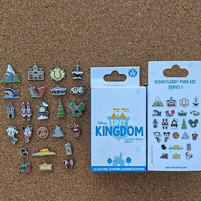 Tiny Kingdom Complete Pin Set & Map 2019 Disneyland Series 1 Limited Release LR