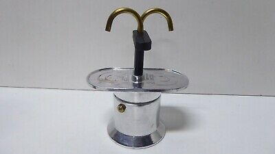 Vintage Bialetti Double Cup Espresso Coffee Maker Stove Top Machine 2 Tazze