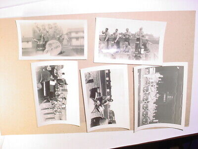 5 Vintage WW2 Scott Field US AAF Training Command Army band men PHOTOS soldier