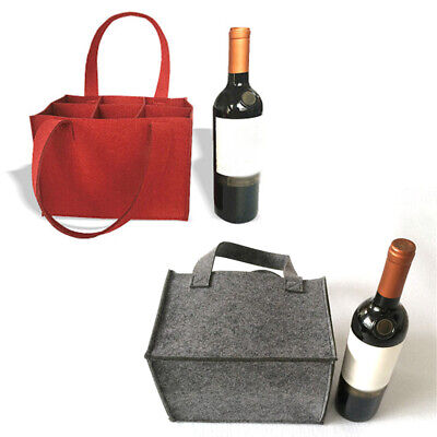 Felt 6 Grids Beer Wine Storage Pouch Bag For Wedding Party Camping Carrier Hot