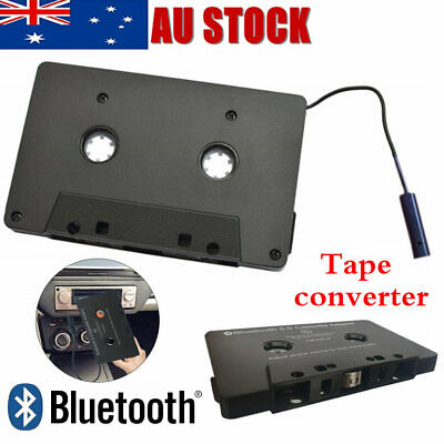 CAR AUDIO TAPE CASSETTE ADAPTER RECEIVER Bluetooth FOR IPHONE IPOD CD MP3 RADIO