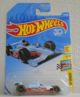 2018 Hot Wheels Indy 500 Oval #123 Legends Of Speed 5/10 Pr5 Blue Gulf