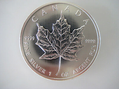 3 x 2012 Canadian 1 oz .9999 Pure Silver Maple Leaf Coins - New & Uncirculated