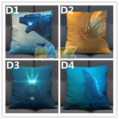 Hot Movie Godzilla King of the Monsters Pillow Doll Car Cushion Cover Gifts