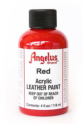 Angelus Brand Acrylic Leather Paint Waterproof Red - 4.oz