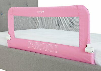 Pink Cuggl Bed Rail For Toddler Safety. With Child Safety Locks