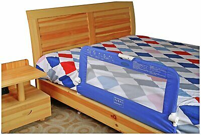 Blue Cuggl Bed Rail For Toddler Safety. With Child Safety Locks To Guard Baby