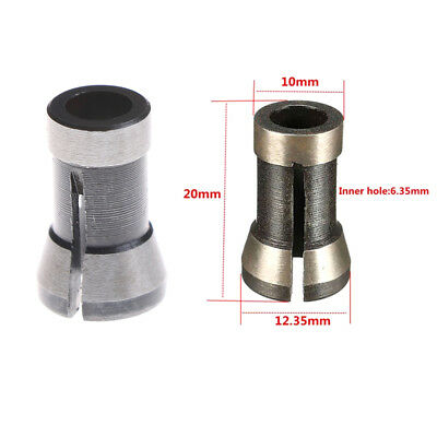 "6.35mm 1/4"" Alloy Trimming Collet Chuck Engraving Machine For Bakelite Milli LU"