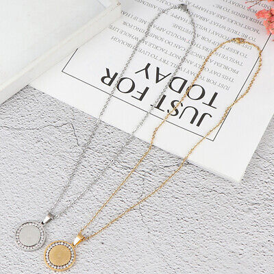 Men's Stainless Steel Rhinestone Bible Text Prayer Tag Pendant Necklace ChainSN