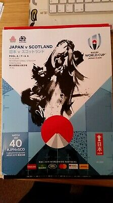 Official 2019 Rugby World Cup Programme - Japan v Scotland - Game 40
