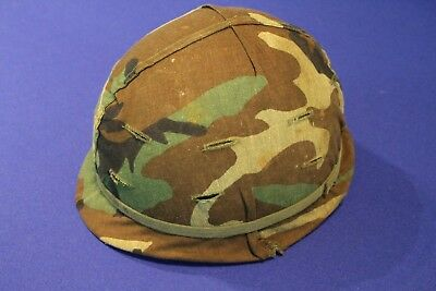 Obsolete US M1 Steel Helmet / UN Service with Woodland Cover