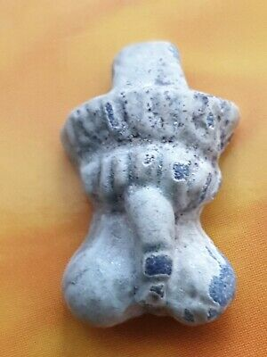 Romano-Egyptian very rare blue glazed composition  Phallic Amulet 30 BC-323 AD