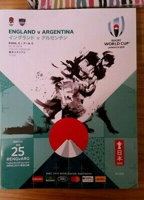 Official 2019 Rugby World Cup Programme - England v Argentina - Game 25