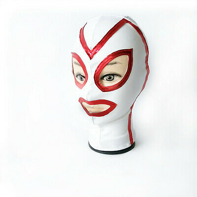 Latex Mask Spandex Full Head Hooded Cosplay Costume restraint BDSM club roleplay