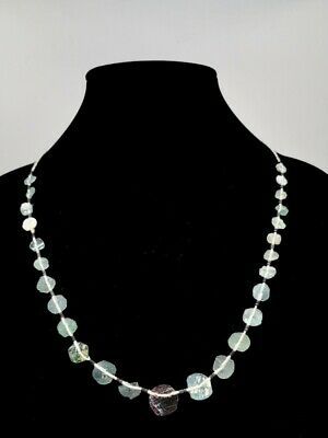 Roman Ca.300 Ad Green Glass Beaded Necklace - R182