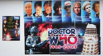 Set of 10 Doctor Who Strictly Ink 40 Years Premium Collection Promo Cards B1-B10