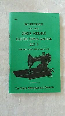 3 Singer 221-1 featherweight instruction manuals